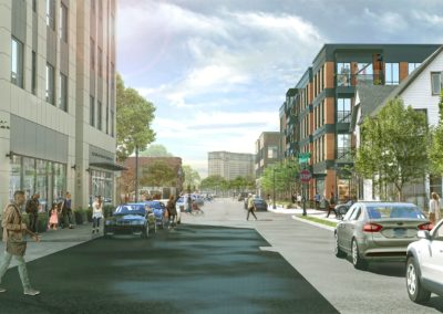 Rendering of a view south on 8th Street