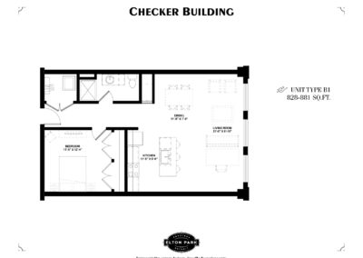 Checker Building Unit Type B1