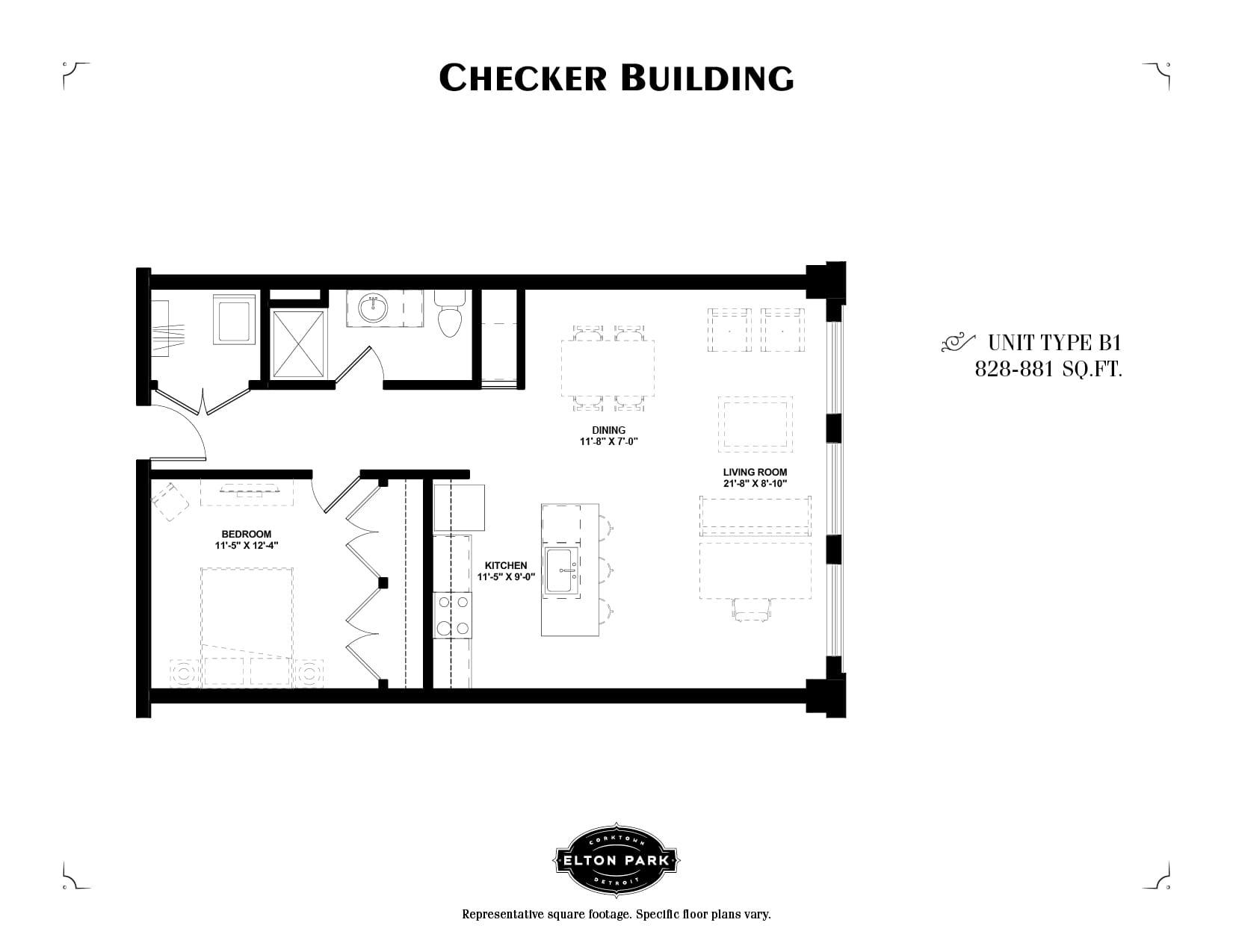 Checker Building Unit Type B1