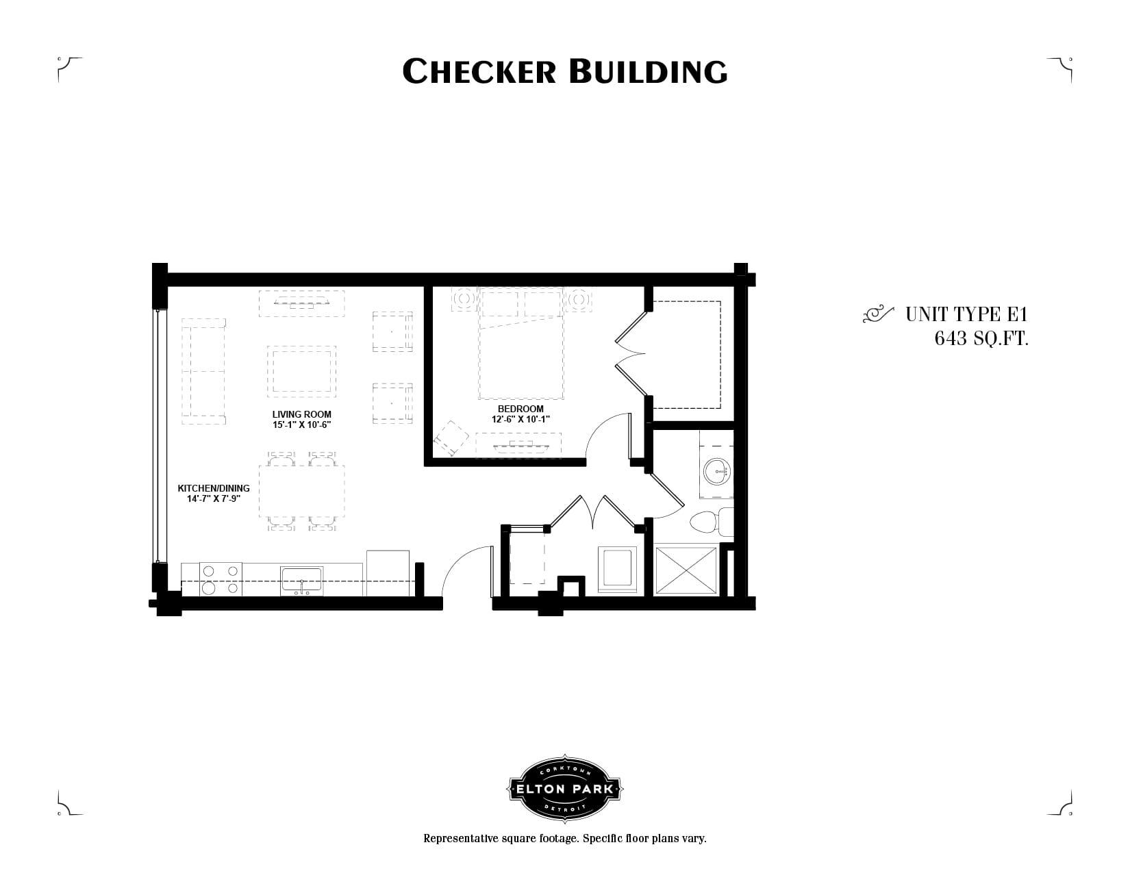 Checker Building Unit Type E1