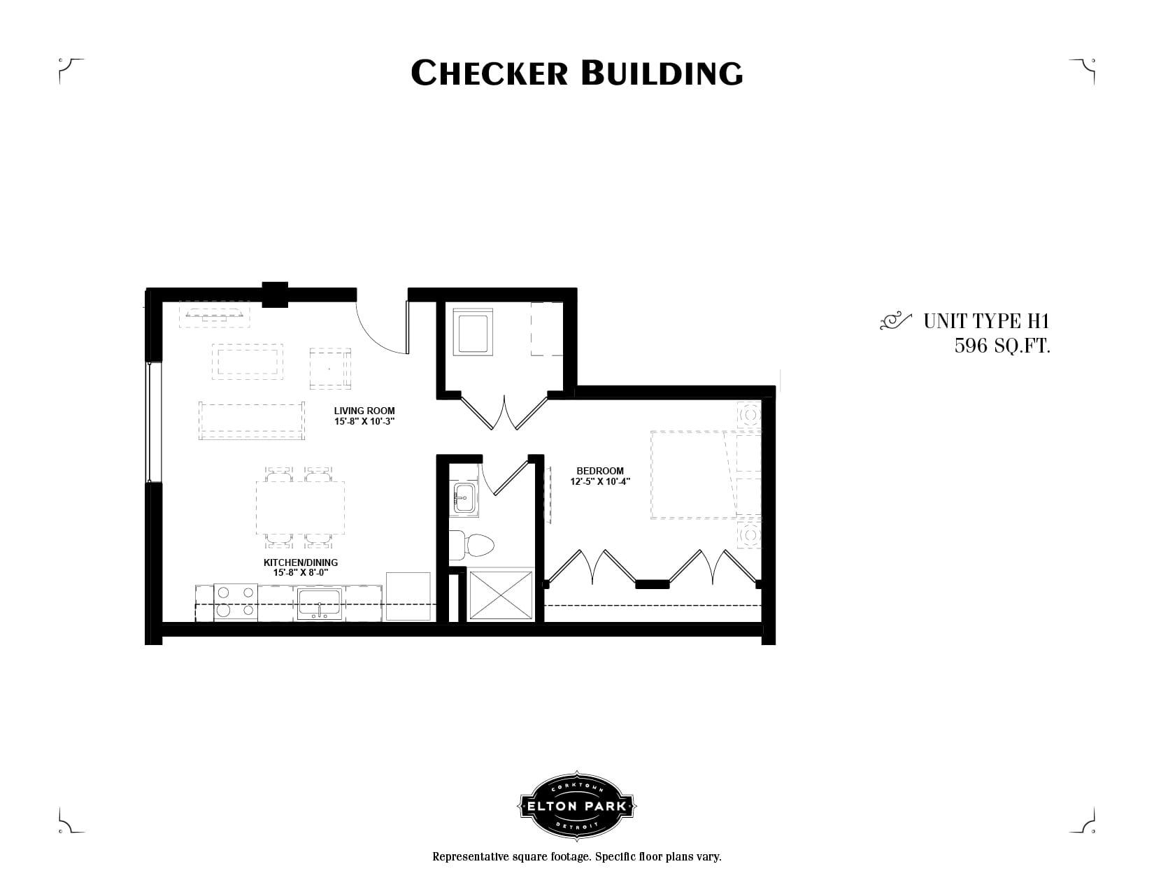 Checker Building Unit Type H1