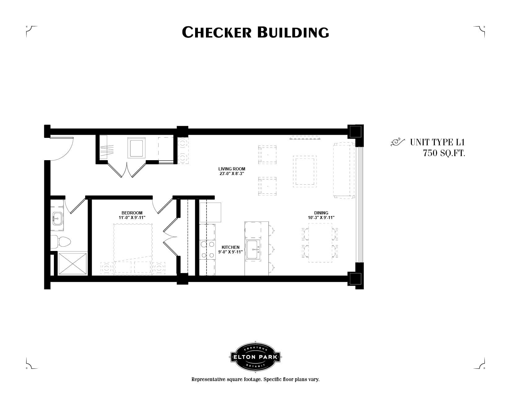 Checker Building Unit Type L1
