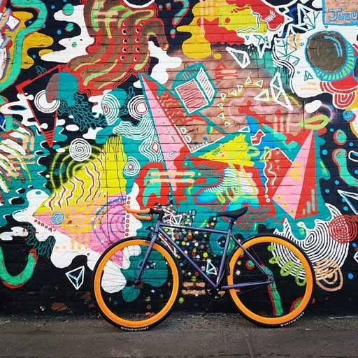 Wall Art with a Bicycle