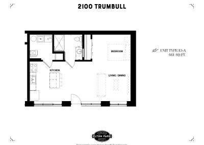 2100 Trumbull Unit Type E1-A